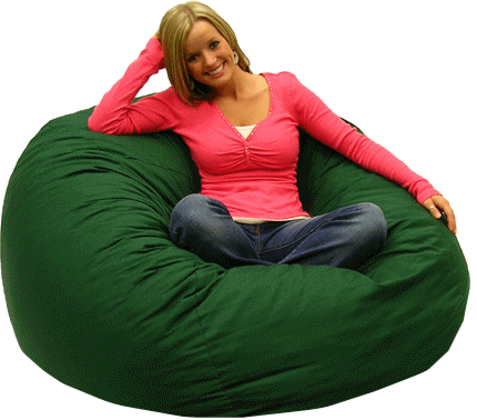 Sitting On Bean Bag